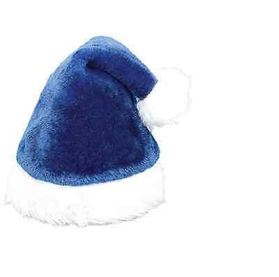 Royal Blue Santa Hats (Unisex Father Christmas XMAS Santa Family Hats For Adult/Kid Royal blue)