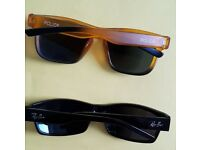 2 pair of sun glasses