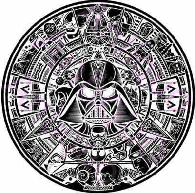 Star Wars Aztec - Dxf Cdr File For Cnc Plasma Or Laser Cut Clipart Graphic Art