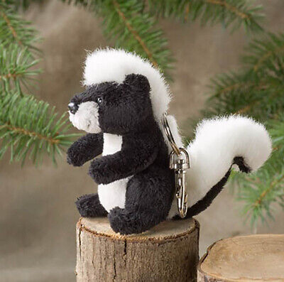 Striped Skunk Plush Keychain 4