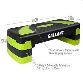 Gallant Stepper adjustable 3 level aerobic step - green - brand new