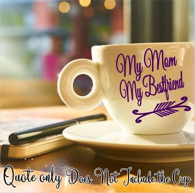 Mom Best Friend Monogram Vinyl Decal for Your Tumbler Coffee Mug Quote Moms