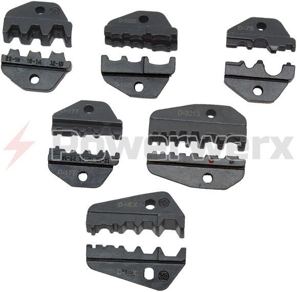 Powerwerx Interchangeable accessory die sets for the TRIcrimp crimping tool