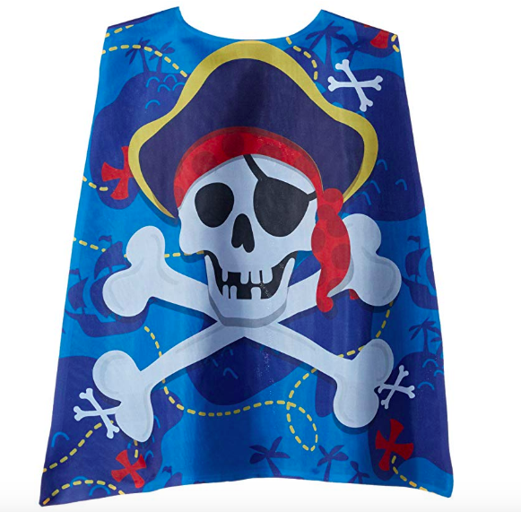 Pirate cape dress up and/or Halloween Blue Pirate Cape For A