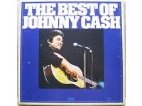 VINYL RECORDS JOHNNY CASH -THE BEST OF-BOX SET-UK 6 x LPS