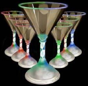 Bulk Lot 36 x Light Up Cocktail Martini Glasses LED Flashing Cup Party Rave New
