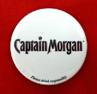 Captain Morgan Logo Souvenir Flashing Button PinBack