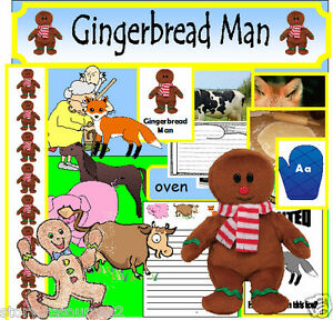 GINGERBREAD-MAN-story-sack-Primary-teaching-resources-KS1-EYFS-sack ...
