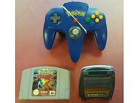 Pokemon N64 Pad with Pokemon Stadium and Gameboy Transfer Pak