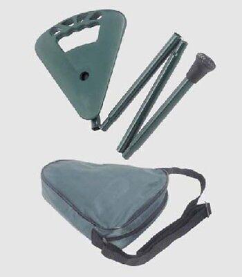 Fold Away Lightweight Walking Stick / Cane and Seat from Flipstick - Green
