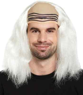 Verrückt Wissenschaftler Weiß Einstein's Kostüm Perücke Doc Emmett Braun Mad ()