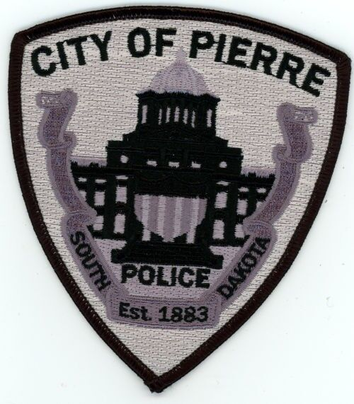 PIERRE POLICE SOUTH DAKOTA SD PATCH SWAT SUBDUED TACTICAL SHERIFF