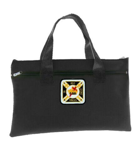 Knights of Templar Black Masonic Tote bag for Freemasons. In Hoc Signo Vinces