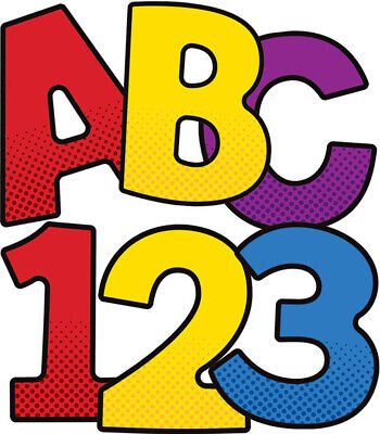 CD 130067 Super Hero 4 Inch Bulletin Board Letters Classroom Decoration - Super Hero Letters