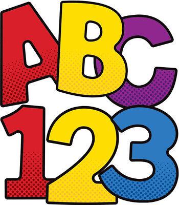 CD 130067 Super Hero 4 Inch Bulletin Board Letters Classroom - Super Hero Letters