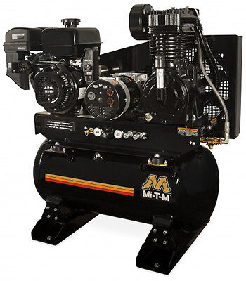 Mi-T-M AG2-SM14-30M 30 Gallon Two Stage Combination - INCLUDES ELECTRIC START