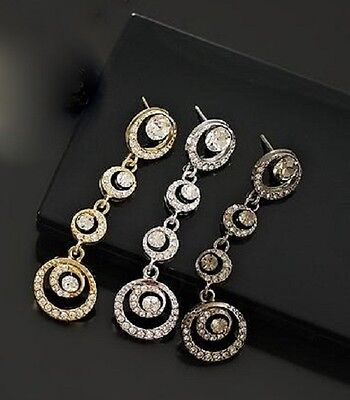 Lovely crystal circle chandelier earrings, choices ()