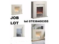 WHOLESALE JOB LOT - 10 x New Beldray electric fire & surround ROCHDALE
