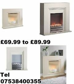 New - Electric fires with surround-£49.99 to £89.99 - ROCHDALE
