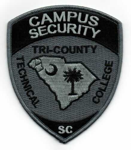 TRI COUNTY TECHNICAL COLLEGE CAMPUS SECURITY SOUTH CAROLINA SC NEW PATCH POLICE