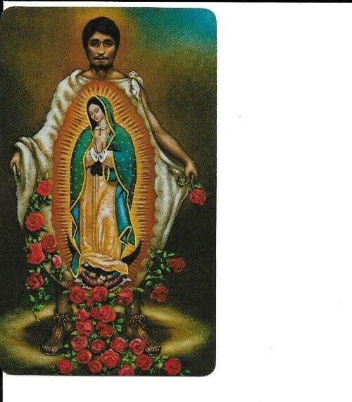 """Holy Card of Saint Juan DiegoPlus a New Medal of Juan Diego 1 1/8"""""""