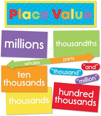 CD 110444 Understanding Place Value Math Skills Mini Bulletin Board Set  ()