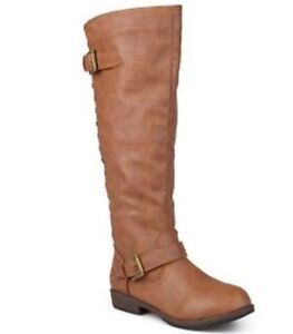 New! Journee wide-calf Spokane studded riding boot, size 8
