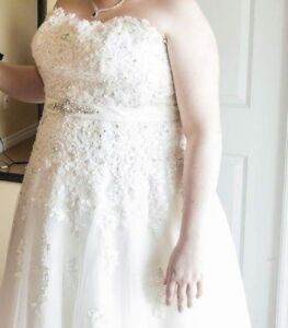Ivory plus size wedding dress