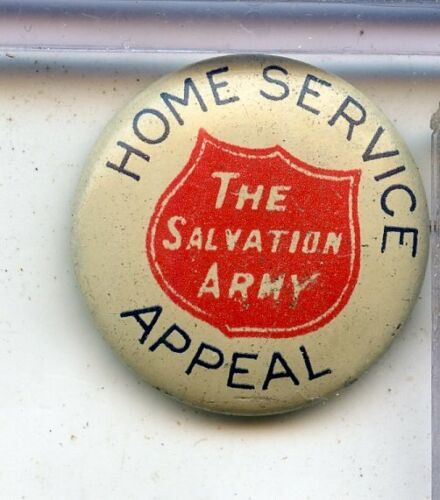 WWI Salvation Army Home Service Appeal Pinback Button - RC781
