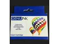 Wholesale/job lot - Genu ink, Epson compatible replacement in jet cartridge cyan
