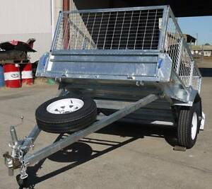 FULLY WELDED HOT DIP GAL 8x5 TRAILER WITH CAGE & SPARE WHEEL Maryborough Fraser Coast Preview