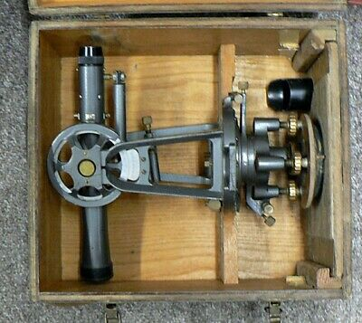 Vintage David White Surveying Transit Model 8200 In W C P C Wood Box