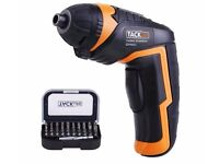 cordless screwdriver with USB recharge
