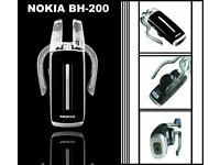 BRAND NEW & BOXED NOKIA BH-200, BT HEADSET, WITH EU PLUG CHARGER, UK ADAPTOR REQUIRED
