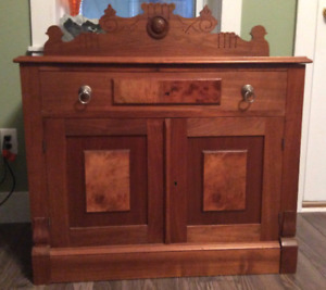 Late 1800's solid wood washstand.