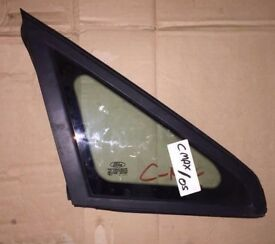 2005 FORD CMAX FRONT DRIVER RIGHT OFF SIDE CORNER WINDOW GLASS WITHOUT RUBBER