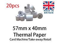 CASH REGISTER 57mm X 40mm THERMAL TILL ROLLS NEW IN BOX 20PCS