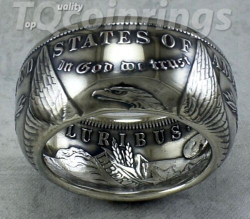 TOP QUALITY~MORGAN DOLLAR SILVER COIN RING~MADE TO ANY SIZE FROM 10-14.