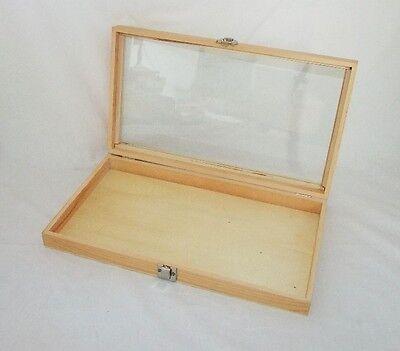 Natural Wood Glass Top Display Case