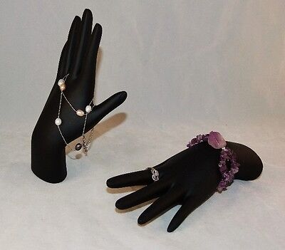 Black Polystrene Hand Display For Rings And Bracelets
