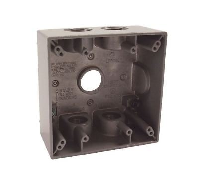 Hubbell-bell 5345-0 Two Gang 5-34-inch Outlets Weatherproof Box