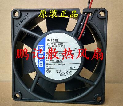 1 PCS PAPST TYP8414HR Fan DC 24V 5.8W 80*80*25mm 2Pin #MN52 QL 24v 1 Hr-fan