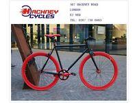 Brand new single speed fixed gear fixie bike/ road bike/ bicycles + 1year warranty & free service 1t