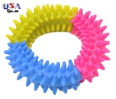 Spiked Rubber Dog Toy Ring - Promote good dental hygiene - Chew - Teething Puppy