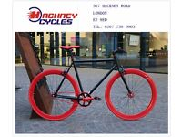Brand new single speed fixed gear fixie bike/ road bike/ bicycles + 1year warranty & service 5f