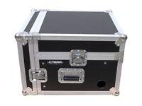 DJ FLIGHT MIXER CASE 4U with LAPTOP Shelf
