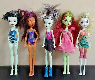 MONSTER HIGH 5 DOLL Lot Bundle MH Rare Mattel Clothes Accessories Halloween # 71 (Halloween Monster High Dolls)