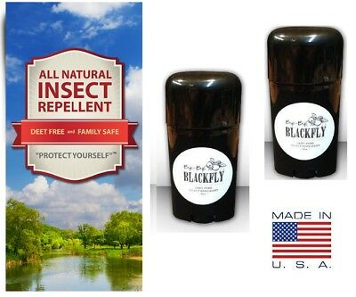 Bye-Bye Black Fly All Natural Insect Repellent – Easy Apply Stick - 2 Pack  ()