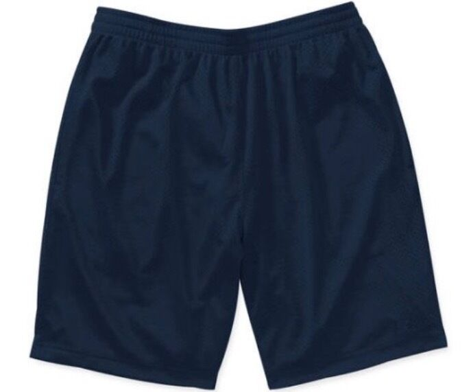 NEW Starter Mens Active Mesh Basketball Running Shorts Navy