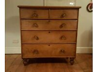 Attractive antique chest of drawers ( free local delivery)